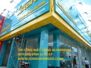 Thi công mặt dựng aluminium