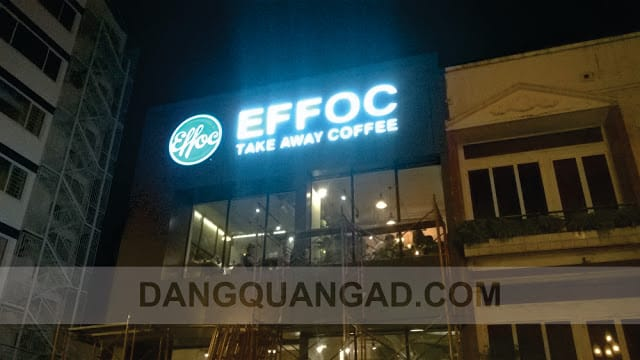 thi công mặt dựng alu effoc coffee b