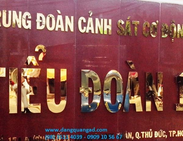 Thiết kế thi công bảng hiệu quảng cáo quận thủ đức