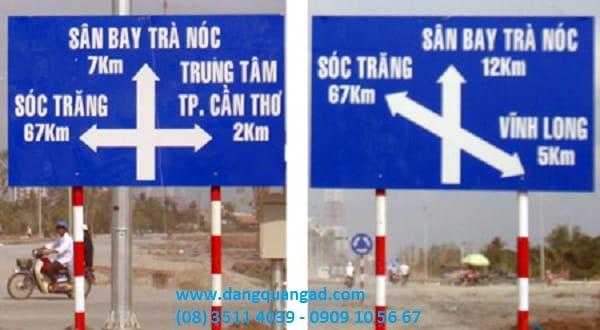 Làm biển báo giao thông phản quang 3M