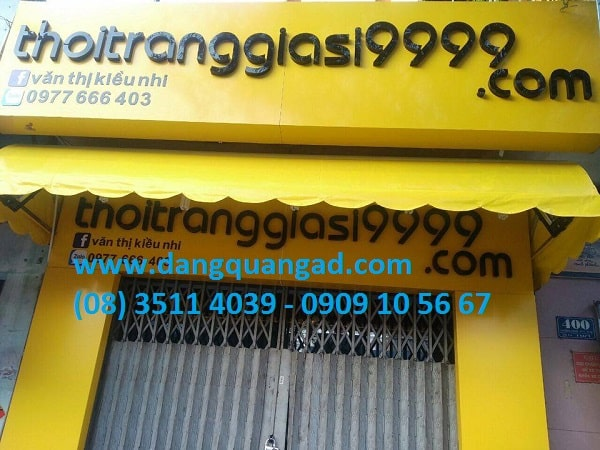 Thiết kế thi công bảng hiệu alu chữ nổi Tân Bình
