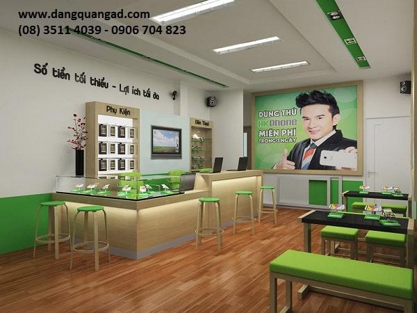 Thiết kế thi công showroom cửa hàng điện thoại