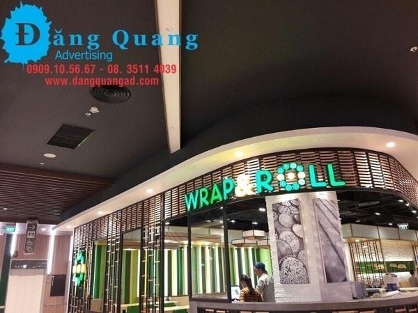 thi công lắp đặt chữ nổi mica led tại Aeon mall bình tân tphcm
