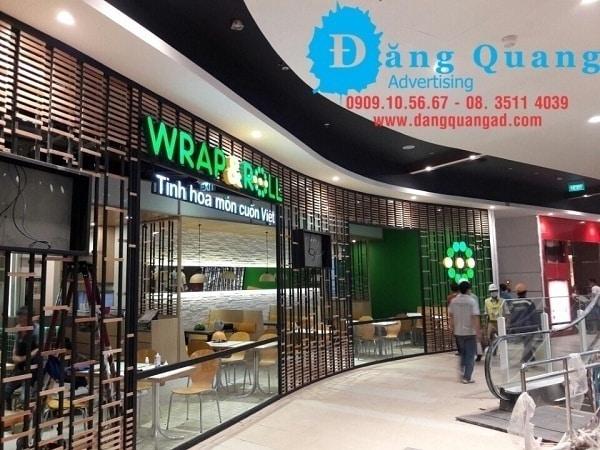 thi công chữ nổi mica led tại Aeon mall bình tân