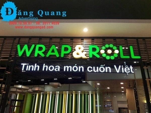 thi công lắp đặt chữ nổi mica led tại Aeon mall bình tân