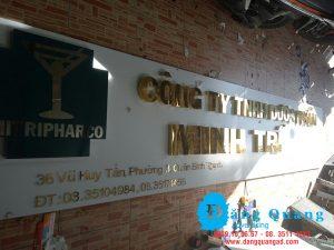 Thiết kế thi công bảng hiệu alumium chữ nổi inox giá rẻ Bình Thạnh TP HCM