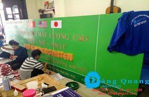 Thi công lắp đặt bảng hiệu alu chữ nổi mica Trường Mầm Non Mỹ Việt Nhật Gò Vấp