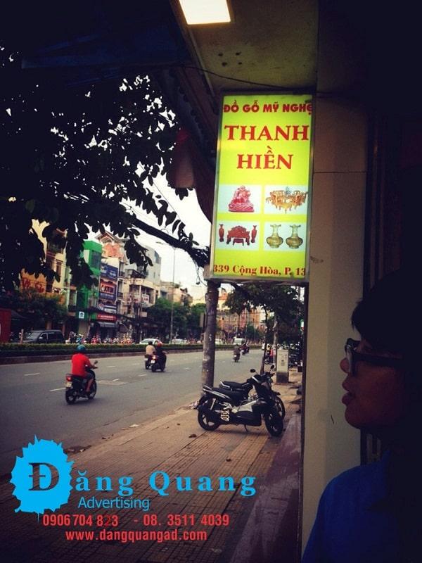 Bảng hiệu bạt hiflex hộp đèn hiflex TH Tân Bình
