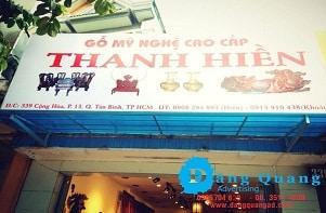 Gia công Bảng hiệu bạt hiflex hộp đèn hiflex TH Tân Bình