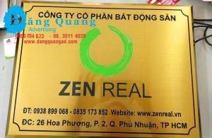 Gia công bảng inox ăn mòn inox vàng xước Zen Phú Nhuận