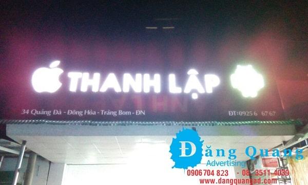 Thi công bảng hiệu alu chữ nổi mica led Thanh Lập Đồng Nai