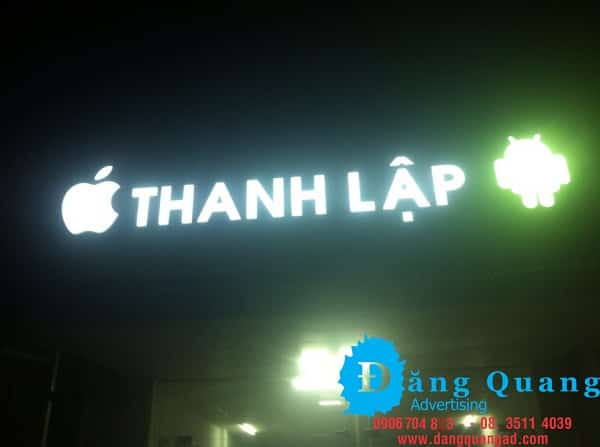 Thi công bảng hiệu alu chữ nổi mica led Trảng Bom Thanh Lập Đồng Nai
