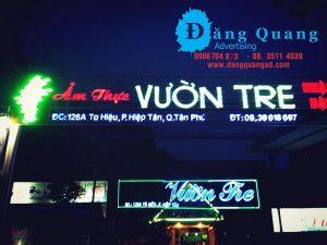 Thiết kế bảng hiệu chữ nổi mica led Vườn Tre Tân Phú