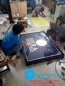 Gia công lắp đặt bảng hiệu hộp đèn mica Hera Quận 1