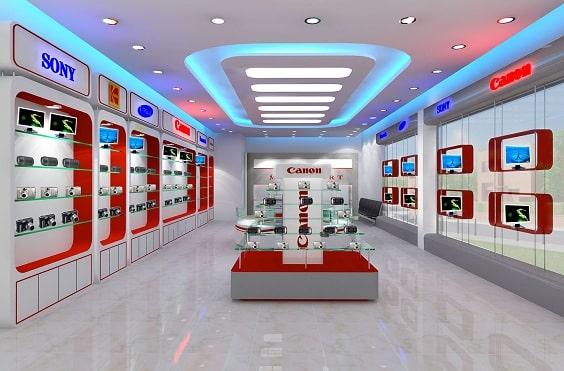 trang trí thiết kế showroom, shop
