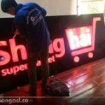 Làm bảng mica chữ nổi Led công ty Shanghai