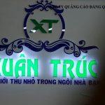 Thi công lắp đặt bảng hiệu và Logo chữ nổi cho giấy dán tường Xuân Trúc